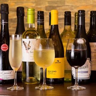 16種類以上のボトルワイン1600円無制限飲み放題日~木限定