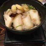 秋田比内や - セットのミニきりたんぽ鍋 もちろん比内地鶏のだし