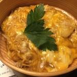 秋田比内や - セットのミニ親子丼(※ご飯は少なめにしてもらいました。)