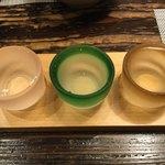秋田比内や - 秋田のお酒飲み比べ700円(お店おまかせ)