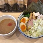 人形町 麺や わたる - わたるつけ麺(中盛)(温盛り)