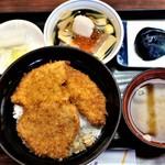 とんかつ政ちゃん - 料理写真:うんめもん三昧セット 1,580円 デザート付き