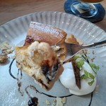 MOVE CAFE - [料理] キャラメルバナナのNYチーズケーキ ひと口大 アップ♪w ①