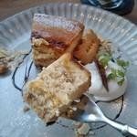 MOVE CAFE - [料理] キャラメルバナナのNYチーズケーキ ひと口大 アップ♪w ②