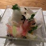 エイジングビーフ - 大根サラダ