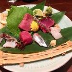 93378702 - 「鮮魚造り盛り」1人前なので値段不明。推定千円弱。