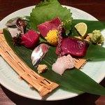 93378705 - 島根産穴子、北海道秋刀魚、本鮪、愛知とり貝、北海道鰤、宮城鰹です。