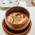 鮓 きずな - ☆鰆と椎茸の茶碗蒸し
