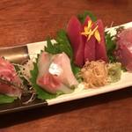 食彩Kikumizu - お造り4種盛り合わせ