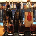 黒猫夜 - 紹興酒の利き酒セット その1