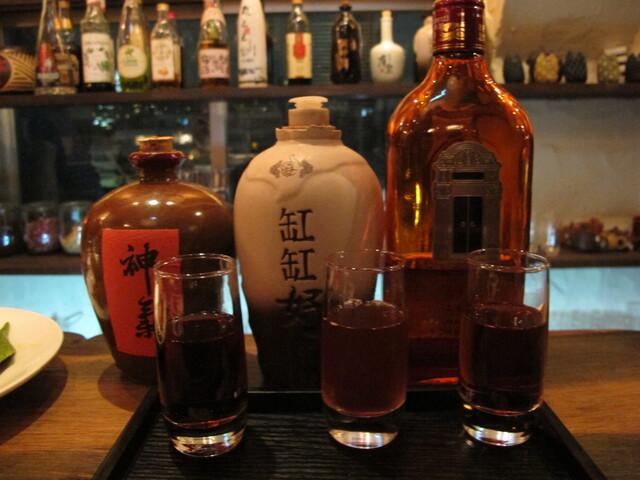 黒猫夜 六本木店 - 紹興酒の利き酒セット その2