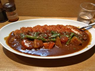 カレーや うえの - ロースカツ野菜カレー