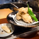 円山町わだつみ - 鱧大好き(^O^)岩塩に付けていただきます。
