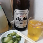 珍々軒 - 瓶ビール&お新香2018.9.23