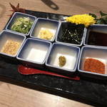 朝採れ鮮魚と個室居酒屋 志喜 - 薬味いっぱいで嬉しいね♡