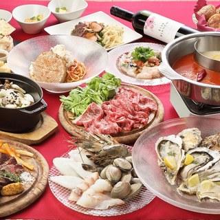 北海道食材が盛り沢山の贅沢コース!
