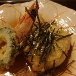味季 和遊 - 鱧の子豆腐と車海老の揚げ出し