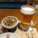 酔灯屋 - お通し、生ビール