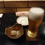 93393434 - お通し、生ビール