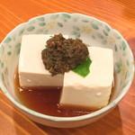 もみじ茶屋 - ふき味噌豆腐(450円)