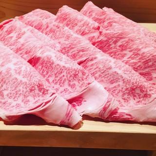 松阪牛の希少部位【王女の貞】で味わう、しゃぶしゃぶ・すき焼き