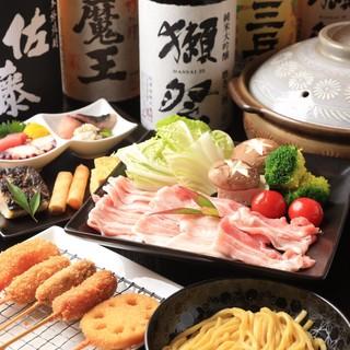 お料理を引き立てる、人気の希少な日本酒や焼酎に酔いしれて…。