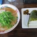山創 - 中華そばセット ¥680