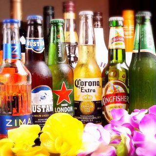 世界のビールもご用意☆カクテルは80種類超!飲み放題もあり♪