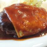 キッチン ミキ - チーズハンバーグ アップ