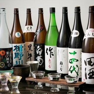 料理に合う日本酒を全国各地から取り揃えております。
