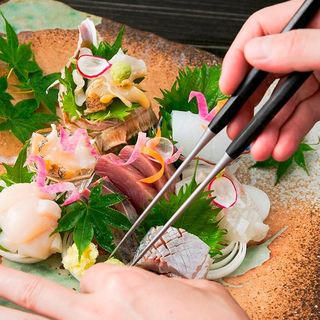 店主が目利きした朝採れ新鮮魚をぜひご賞味ください。