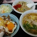 重松飯店 - 満腹セット 950円