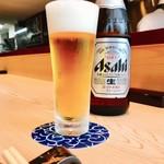 心斎橋 鮨 おか崎 - 昼ビールぷはぁ♡