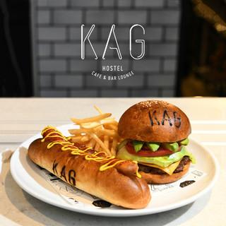 バンズからパテまで、こだわりのKAGハンバーガー!