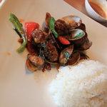 キンカオコン - ランチのメイン1 アサリの旨辛味噌炒め&ライス