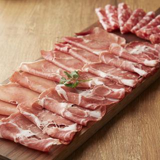 ワインと相性抜群の肉料理!熟成期間の異なる生ハムを食べ比べ!