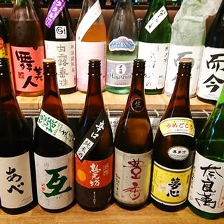 季節や天候に応じて揃える、日替わりの日本酒