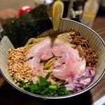 麺屋 頭上注意 ふすかけ1.8号店 - 醤油系魚介混ぜそば(200g)
