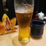 まるや本店 - 生ビール