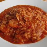 プラージュスッド - 魚介入り雑炊、トマトソース