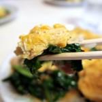 中華シブヤ - ニラと玉子を一緒に食べる