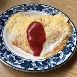 93433397 - 卵汁ブシュー❣️オムライス四百円(๑˃̵ᴗ˂̵)ハート型にも見える