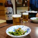 更科そば本店 - ビール(\600)
