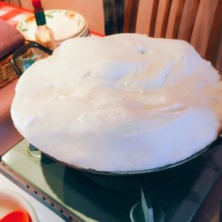 ふわふわメレンゲトマト鍋♪1人前税込¥1480(2人前~)