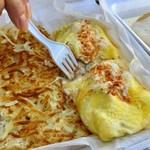 Boots & Kimo's Homestyle Kitchen - シュリンプアルフレッド Shrimp Alfredo Omelette($15.95)