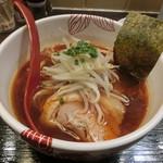 麺処 あす花 - 赤いラーメン800円