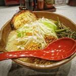 麺場 田所商店 - 信州味噌 野菜らーめん [¥853] / 味噌漬け炙りチャーシュー 1枚 [¥129]