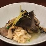 93448100 - 天然木ノ子と京壬生菜のおひたし