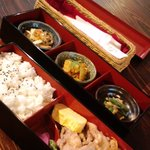 カフェ・ショップ・ギャラリー空 - 生姜焼き御膳
