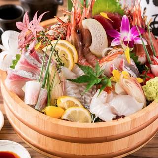全国各港から朝狩りする鮮魚の桶盛りがご堪能!!!